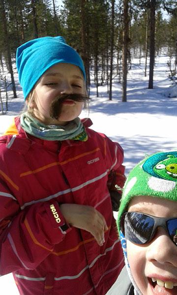 Venla with moustache