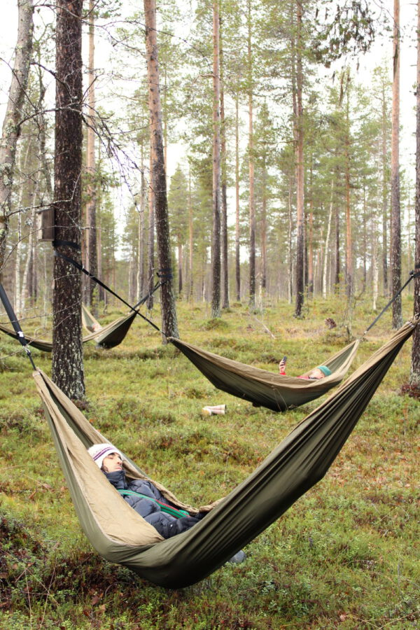 Cocooning in the HaliPuu forest – The ultimate Arctic hammock experience-0
